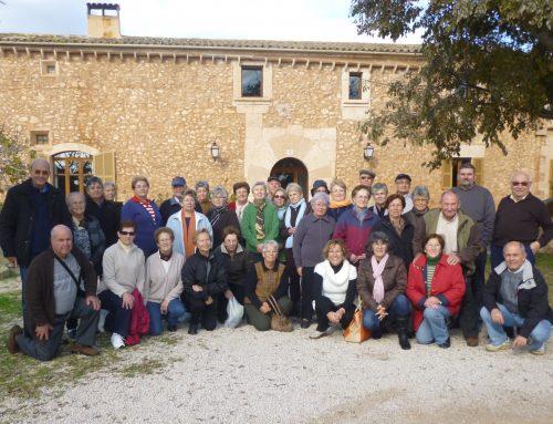 Visita de l'Associació de Persones Majors de Campos a l'Agroturisme Son Lladó